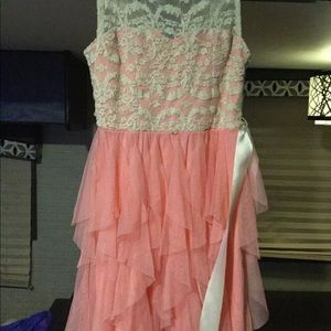 Girls pink and beige dress size 10